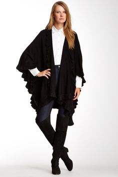 Softy Ruffle Ruana by Accessory Street on @nordstrom_rack