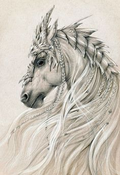 Fun fantasy illustration! Elven horse 2 by Anwaraidd.deviantart.com on @DeviantArt