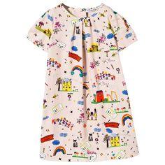 Pink Cartoon Print Dress