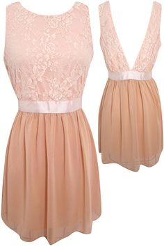 backless and lace ballerina dress <3