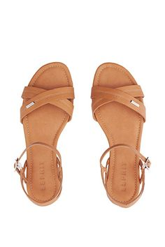 Esprit - sandal with crossed-over front straps at our Online Shop