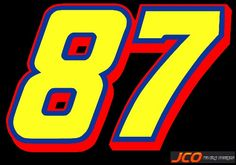 #87 (26 victories). Nascar Cars, Logo Sticker, Luxury Cars, Numbers, Typography, Symbols, Letters, Stickers, Art