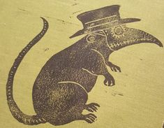 hand cut, block printed, - plague rat in a plague mask. holy deliverance, or the black holy death? - various fabrics, various colors Black Plague Mask, Plague Doctor Mask, Black Death Plague Doctor, Rat Tattoo, Doctor Tattoo, Doctor Drawing, Bubonic Plague, Cosplay Costume, Vash
