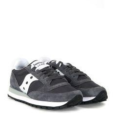 Laterale Sneaker Saucony Jazz in suede e nylon grigio e bianco Polo Ralph  Lauren e85f5ac79b734