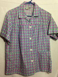Blair Women's Button-up Shirt, Size Medium With Pockets, Made in USA Nice Color #Blair #ButtonupShirt