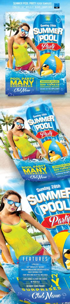 Last Beach Party Flyer Template  Party Flyer Flyer Template And
