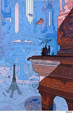 Neo-Paris by Moebius