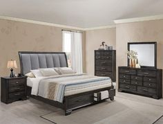 Shop for the Belfort Essentials Jaymes Queen Storage Bed with Upholstered Headboard at Belfort Furniture - Your Washington DC, Northern Virginia, Maryland and Fairfax VA Furniture & Mattress Store Grey Bedroom Set, King Size Bedroom Sets, Wood Bedroom Sets, Queen Bedroom, Kids Bedroom Furniture, Ashley Bedroom, Bedroom Ideas, Furniture Mattress, Queen Headboard