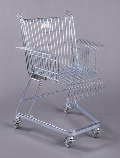 "Stiletto Studios, Chair, ""Consumer's Rest"", ca. 1991. Metal. Cooper Hewitt"