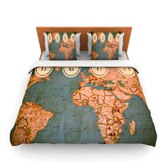 Catherine holcombe the old world blue teal fleece throw blanket ann barnes roam ii world map queen fleece duvet outlet gumiabroncs