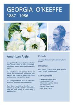 Georgia O'Keeffe Info Sheet