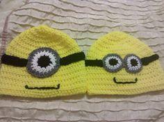 crocheted minion hats
