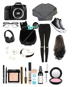 """"""""""" by jaydapolise on Polyvore featuring Eos, American Apparel, Topshop, Prada, Converse, Beats by Dr. Dre, Givenchy, L'Oréal Paris, NYX and Maybelline"""