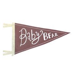 Celebrate the new little bear bundle in your life with this handmade baby bear pennant. Screen-printed with water based, eco friendly ink on 100%
