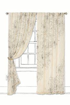 Distressed Aurelian Curtain - Anthropologie.com