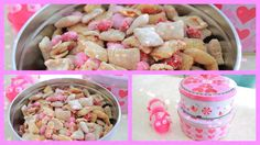 Valentine's Day Party Mix - you could also use Nutella instead of peanut butter.