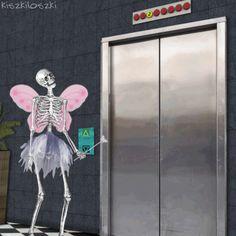 Kiszkiloszki animation work hello death GIF