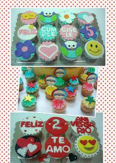 Ponquesitos /cupcakes decorados con fondant para toda ocasión.