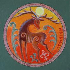 Hungaryan Csodaszarvas Reindeer Tattoo, Hungary History, Drums Art, Alien Concept, Printable Pictures, Deer Art, Spirited Art, Country Paintings, Yellow Art