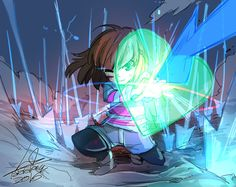 Fanart of Frisk and Chara from Undertale !!! At first , I really cant separate them apart LOL