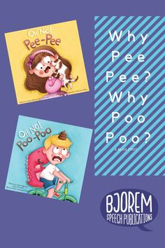 Why not? Pee and Poo are two favorite things that kids talk about. Why? Because it is funny and it is functional. Both of my books OH NO! Pee Pee and OH NO! Poo Poo have been a hit in and out of the therapy room. #bjoremspeech #speechtherapy #childhoodapraxiaofspeech Potty Training Books, Childhood Apraxia Of Speech, Phonological Awareness, Speech Therapy Activities, Early Literacy, Book Recommendations, Childrens Books, My Books, Favorite Things