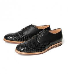 NEW Hadstone Weave Derby Shoes by Hudson   $175   The Hadstone takes the styling of a traditional formal derby but gives it a casual edge. This option has been constructed using the finest black leather, with the vamp having a woven detail ideal for summer. The sole is made from a natural leather, but cleverly our designer has placed a rubber sheet on the bottom. This addition provides extra support and durability to keep Hadstone going and going.   GOTSTYLE.CA