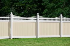 illusions pvc vinyl privacy fence beige and white panels