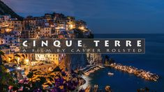 """Cinque Terre which means """"Five lands"""" is a rugged portion of coast on the Italian Riviera between Genoa and La Spezia. The area is part of the Cinque Terre… Genoa, Cinque Terre, Coast, Films, Italy, Movie Posters, Movies, Italia, Film"""