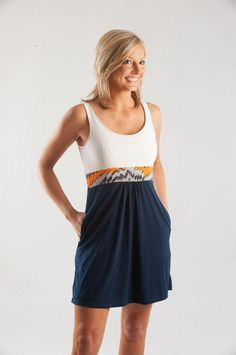 Missoni Signature Dress The perfect Auburn Gameday dress!! Get it NOW at gamedaygirlstuff.com! #gamedayclothes