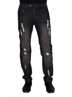 "Men's ""Badass"" Denim Jean by Darring USA (Panther Wash) - www.inkedshop.com#inked #inkedmag #inkedguys #badassdenim #jeans #USA #partnerwash #mensapparel #mensjeans"