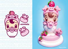 BOOK: Molly Kawaii, love and cakes by Charuca Vargas, via Behance
