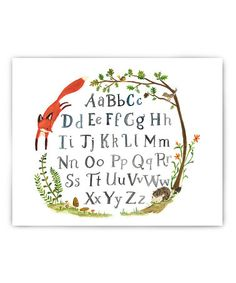 This Quick Red Fox Alphabet Print is perfect! #zulilyfinds