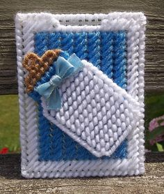 These super cute gift card holders are made with acrylic yarn and plastic canvas. Several colors to choose from OR they can be custom-made in your choice of colors. Feel free to message me with your alternate color choices and we can set up a custom listing just for you.  I used