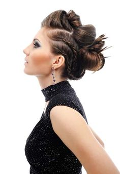 I am going to modify this so it's a little more formal, but I'm in love with the faux-hawk shape and the braids,