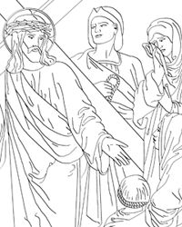 Rosary Stations Of The Cross And Other Catholic Coloring Sheets