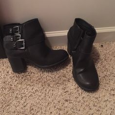 FINAL DROP! Torrid Booties - WORN ONCE! Super cute. Goes great with jeans or leggings! Worn one time. torrid Shoes Ankle Boots & Booties