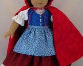 Little Red Riding Hood Costume for American Girl or other 18 inch Dolls