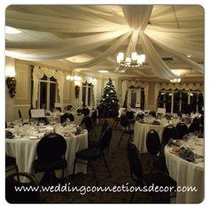 www.weddingconnectionsdecor.com www.facebook.com/weddingdecorating #elmhurstdecorator #elmhurstwedding #wedding #decorating #weddings #weddingdecorating #backdrop #decorator #weddingconnections #weddingdecorator #elegant #ceilingcanopy #ingersol #elmhurst #carriagehouse #ingersolwedding #elmhurstinnandspa #grandballroom