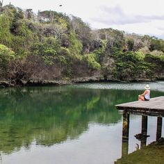 We stumbled upon this gorgeous lagoon by accident today whilst wondering around Santa Cruz in Galapagos. It was incredibly peaceful and relaxing to sit there in silence. ❤️ #naturalwonders #beautifulearth #galapagos #bucketlistdeatination #travel #honeymoonadventures2 #wedowedid