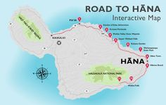 Maui beach map Hawaii maui Pinterest Maui beach Beach and Hawaii