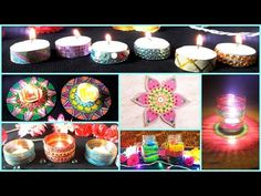 5 DIWALI Decor DIYs Floating fire light, Diya garland +more | Simple & Easy - YouTube