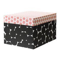 "KVITTRA box with lid, black Width: 12 ½ "" Depth: 9 ¾ "" Height: 7 ¾ "" Width: 32 cm Depth: 25 cm Height: 20 cm"