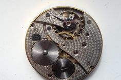 ON AUCTION ON WEDNESDAY 25 MAY FROM 8pm....VINTAGE 43mm ENAMEL DIAL SWISS MADE POCKET WATCH MOVEMENT FOR SPARES REP