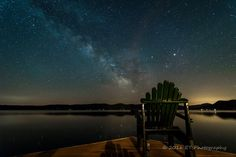 Milky Way over Lake George.  Our photo of the week from ET Photography