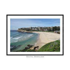 Coastal Wall Art, Beach Wall Art, Bondi Icebergs, Bronte Beach, Disney Resort Hotels, Sydney Beaches, Beach Posters, Beach Print, Landscape Prints
