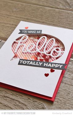 For the Love of Paper: word shaker cards: MFT Shaker Card Week. Video tutorial on using word dies to create a shaker card. Scrapbook Cards, Scrapbooking, Save The Date Karten, Valentine Love Cards, Interactive Cards, Friendship Cards, Shaker Cards, Card Making Inspiration, Card Tags