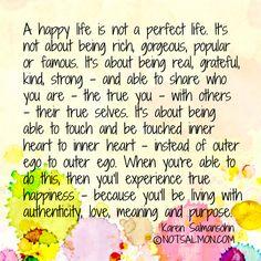 A happy life.