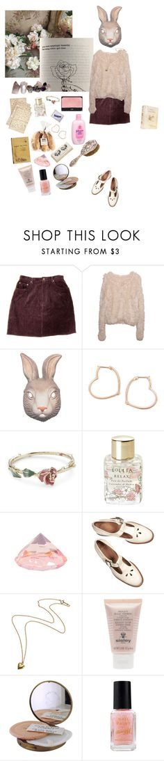 """""""Rabbit"""" by thestarrynightsky ❤ liked on Polyvore featuring Johnson's Baby, Luis Miguel Howard, Disney Couture, Lollia, Cultura, Off-White, Sisley and Barry M"""