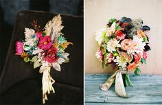 fall wedding bouquets by Honey of a Tousand Flowers