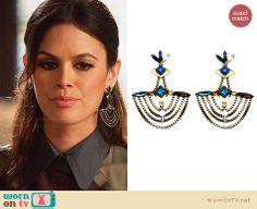 Zoe's chandelier earrings on Hart of Dixie.  Outfit Details: http://wornontv.net/30159/ #HartofDixie